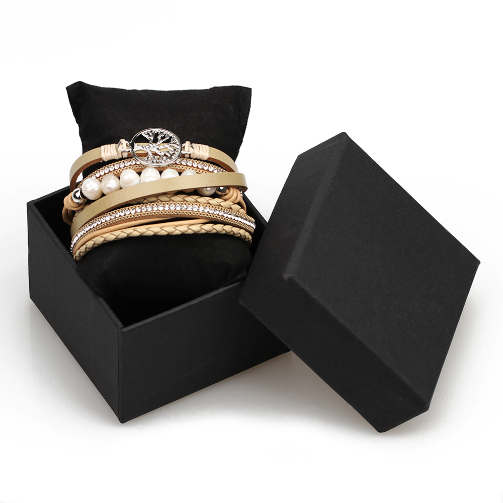 ZIG Jewelry Black Color Gift Box For Bracelet In 3 Size And 2 Colors
