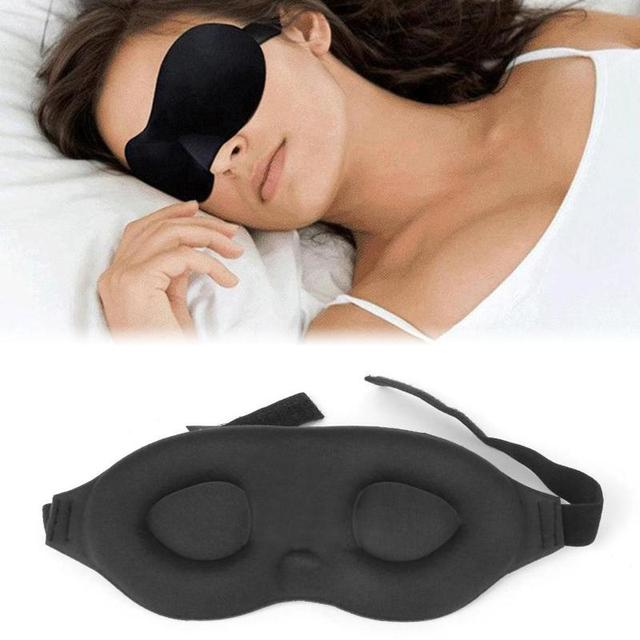 1Pcs 3D Rest Eyeshade Travel Sleeping Eye Mask Memory Foam Padded Shade Cover Blindfold Sponge Eyeshade for Sleeping 3
