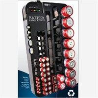 Negro de La Batería Caja de Almacenamiento para 72 unids AA AAA 9 V AG CR C D Tipo de Organizador Del Sostenedor de Batería con La Batería probador