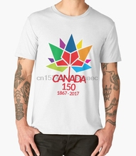 1dac8dea0 Printed Men T Shirt Cotton O-Neck tshirts Canada Day Celebrating 150 Years  Short-