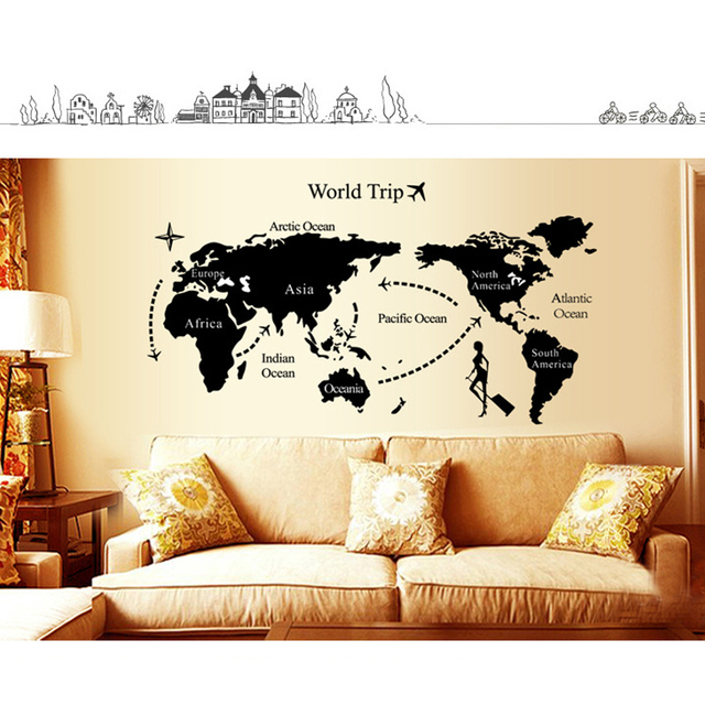Good 1pc world map personalized vintage travel world map poster good 1pc world map personalized vintage travel world map poster sticker vacation national geographic retro maps gumiabroncs Images