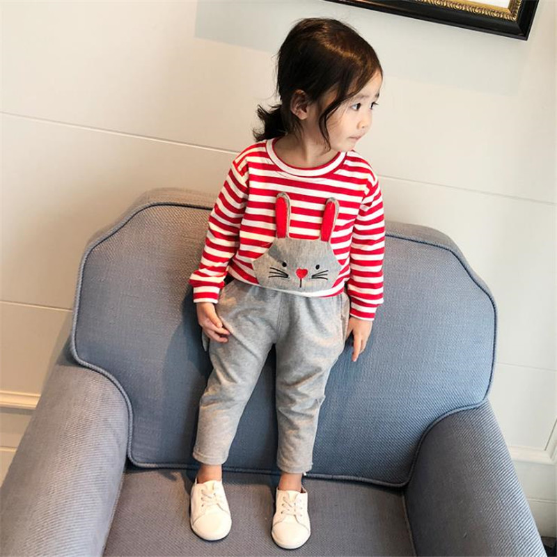 little baby Girls clothes set 1 3 year old Girls clothing Sport Suit 2018 Fashion tracksuit sets kids Spring Sportwear children 2 pcs children girls clothing sets spring little teenage girls sport suit school kids clothes tracksuit striped tops pants set