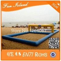 Бесплатная доставка надувной пляжный Волейбол суд, надувные Волейбол для аквапарка, надувные плавающие Волейбол