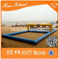 Free Shipping Inflatable Beach Volleyball Court, inflatable volleyball For Water Park,Inflatable Floating Volleyball