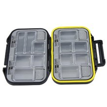 100% New 12 Compartments Storage Case Fly Fishing Lure Spoon Hook Bait Tackle Box Waterproof Black