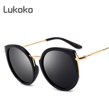 9216ad7a596 Luxury Cateye Women Sun Glasses Polarized UV400 Women Sunglasses Cat Eye  Brand Black ladies Gozluk Oculos De Sol Feminino Shades