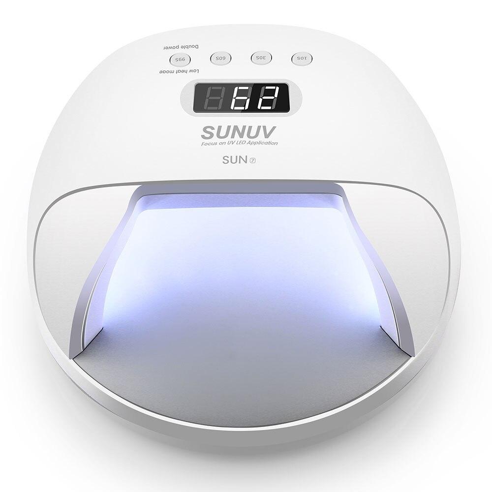 SOLEIL 7 Rechargeable 30 pcs Durcissement Nail Gel Polish Nail LED Lampe Pour Gel Polish Art Automatique Main Capteur Art outils