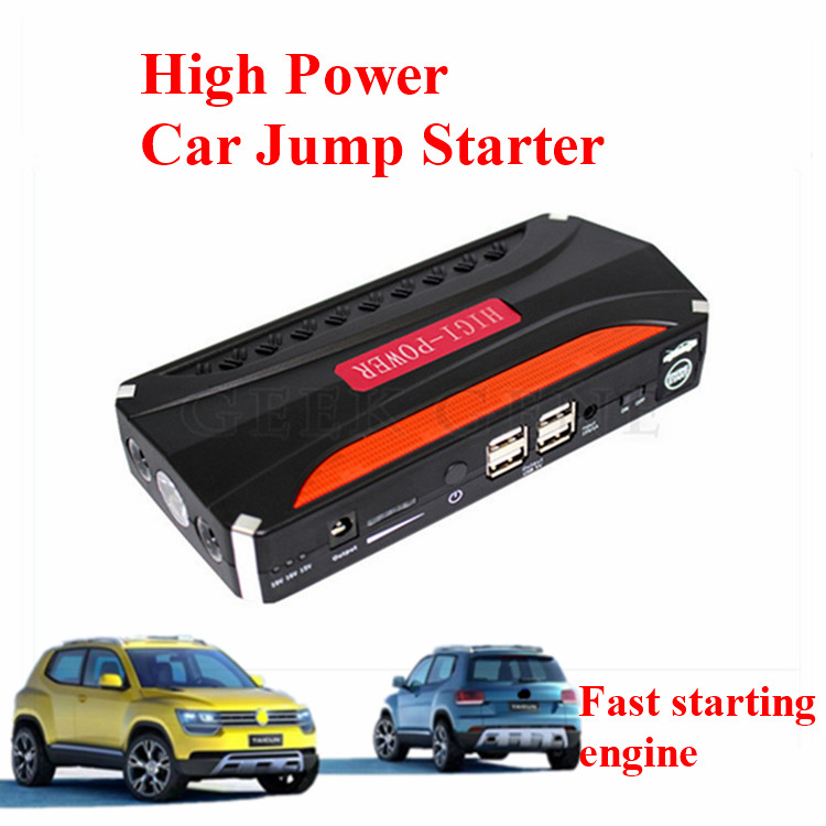 New Upgraded 68800mAh Multi Function 12V Car Jump Starter 4USB Power Bank 600A Peak Car Battery