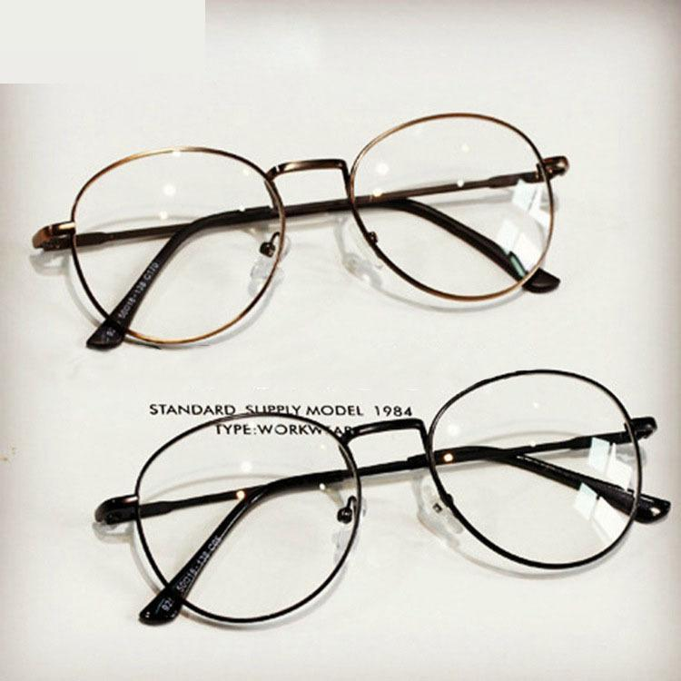10 Pieces/lot Brand Designer Spectacle Frames For Women 2018 New Metal Round Computer Glasses Frame For Man Female Grade Glasses