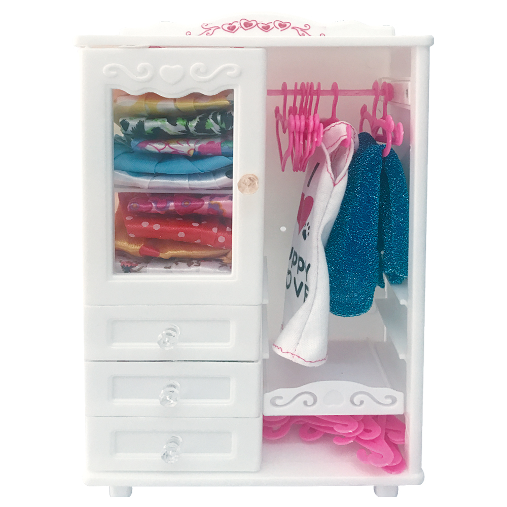 NK One Set Doll Accessories White Luxury Wardrobe Closet For Barbie Doll  Princess Dream Room Furniture Miniature Best Gift In Dolls Accessories From  Toys ...