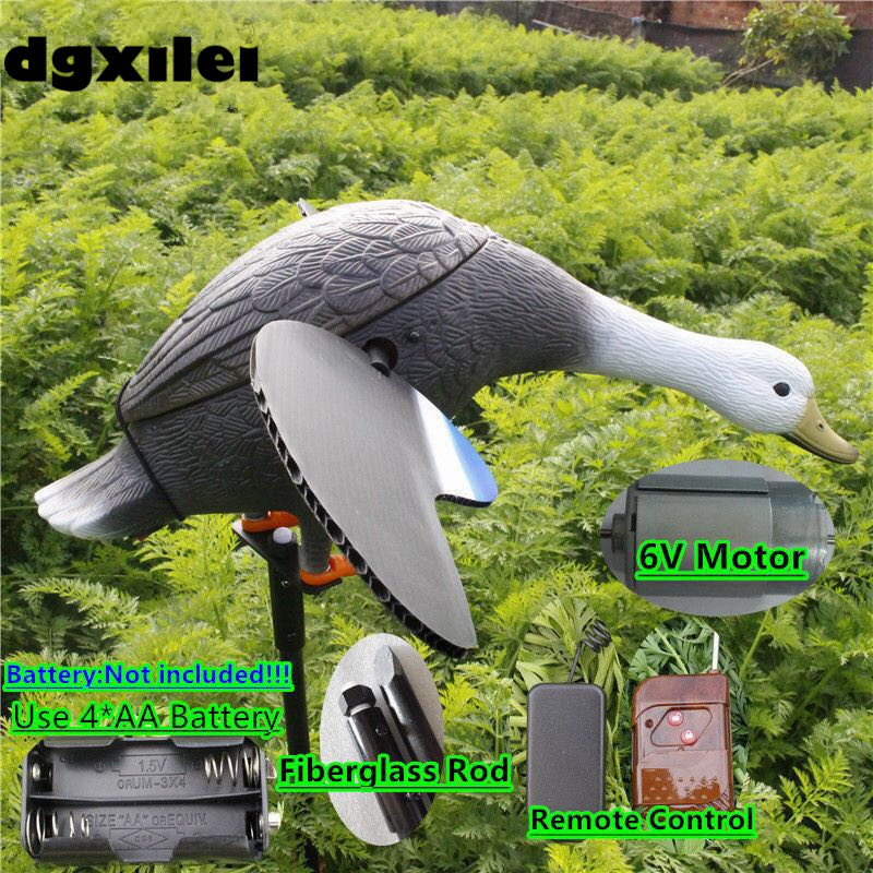 Xilei Wholesale Outdoor Hunting Decoy 6V Motor Duck Decoy Plastic Goods For Hunting Duck With Magnet Spinning Wings xilei 2016 outdoor hunting duck decoys remote control 6v plastic ducks decoy for sale with magnet spinning wings