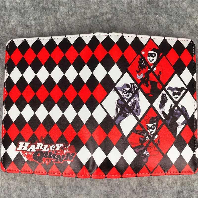 Аниме Харли Куинн Держатель для паспорта джокер из отряда самоубийц леди дорожный паспорт удостоверение Обложка креативный подарок кожаные сумки для паспорта