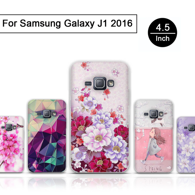 TPU Back Cover For Samsung Galaxy J1 2016 SM-J1 J120F J1 SM-J120F Soft Silicone Phone Cover Case for Samsung J1 2016 J120 Shells