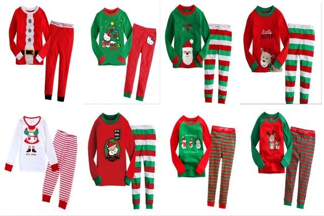 NEW cartoon kids pajama sets,children sleepwear boys nightwear girls family christmas pajamas Retail toddler baby pyjamas 2t-7t