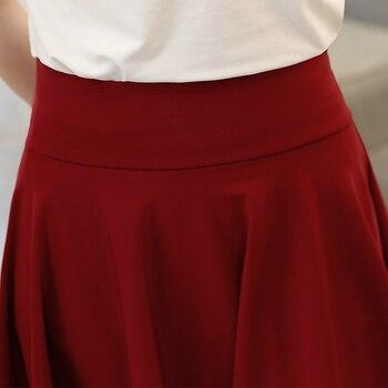 Surmiitro Plus Size 4XL Shorts Skirts Womens 2020 Summer A line Sun School High Waist Pleated Skirt Female Korean Elegant Skirt 4