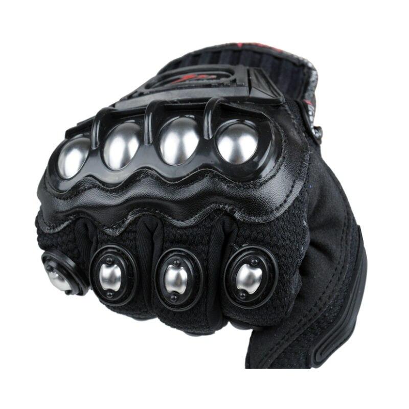 Prix pour 2016 Nouveau Madbike de protection Gants moto En Acier Inoxydable Sport Racing Route Engrenages Moto motocicleta guantes moto luvas