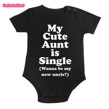Culbutomind Cotton Cute My Aunt Baby Clothes Short Sleeved One-piece black bodysuit Boys and Girls 0-12M infant baby Shower Gift