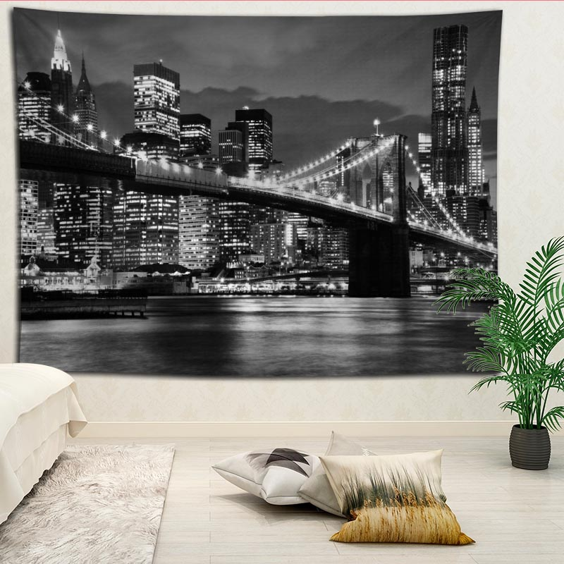 Hot Selling Custom City Wall Tapestry Home Decorations Wall Hanging Tapestries For Living Room Bedroom More Size