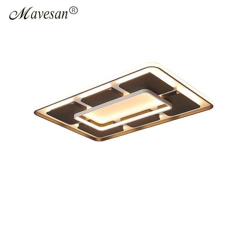 Современные потолочные светильники для гостиной, поддержка для спальни, 110 В и 220 В, дистанционное управление, Светодиодные поверхностные светильники
