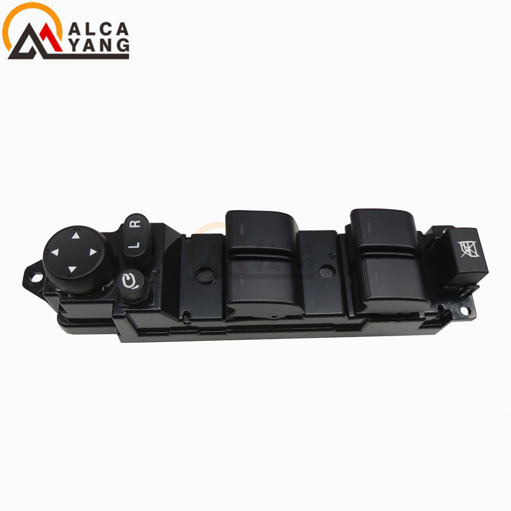 Malcayang NEW High Quality Power window switch GS1E-66350A GS1E 66350A GS1E66350A GS1E-66350 for Mazda A6 1.8 2.0 2.2 2.5 power window lifter switch for mazda6 hatchback gh estate 2007 2008 for electric mirror adjustment switch gs1e 66 350 a