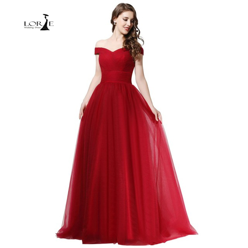 Burgundy Long Dress Party A-line Cheap Evening Dresses Vestidos De Graduacion Largos 2017 Pleats Boat Neck Actual Images Lace-Up