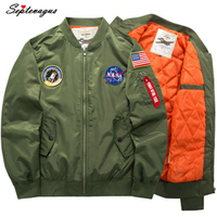 Men's Street Style Coat Military Ma1 Bomber Hip hop US Air Force Motorcycle jacket Pilot Bomber College Jacket for Men 5XL 6XL