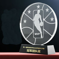 Hot sale!Round Shaped MVP Crystal Trophy National Basketball Games Champion Glass Awards Cup Best Player Award,Free shipping