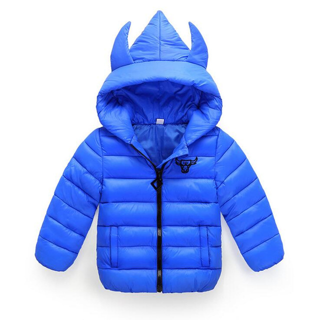 2016 Winter Boy Girls Down Jacket Outerwear Children Brand Design Zipper Hooded Down Coats Good Quality Baby Boys Warm Clothes