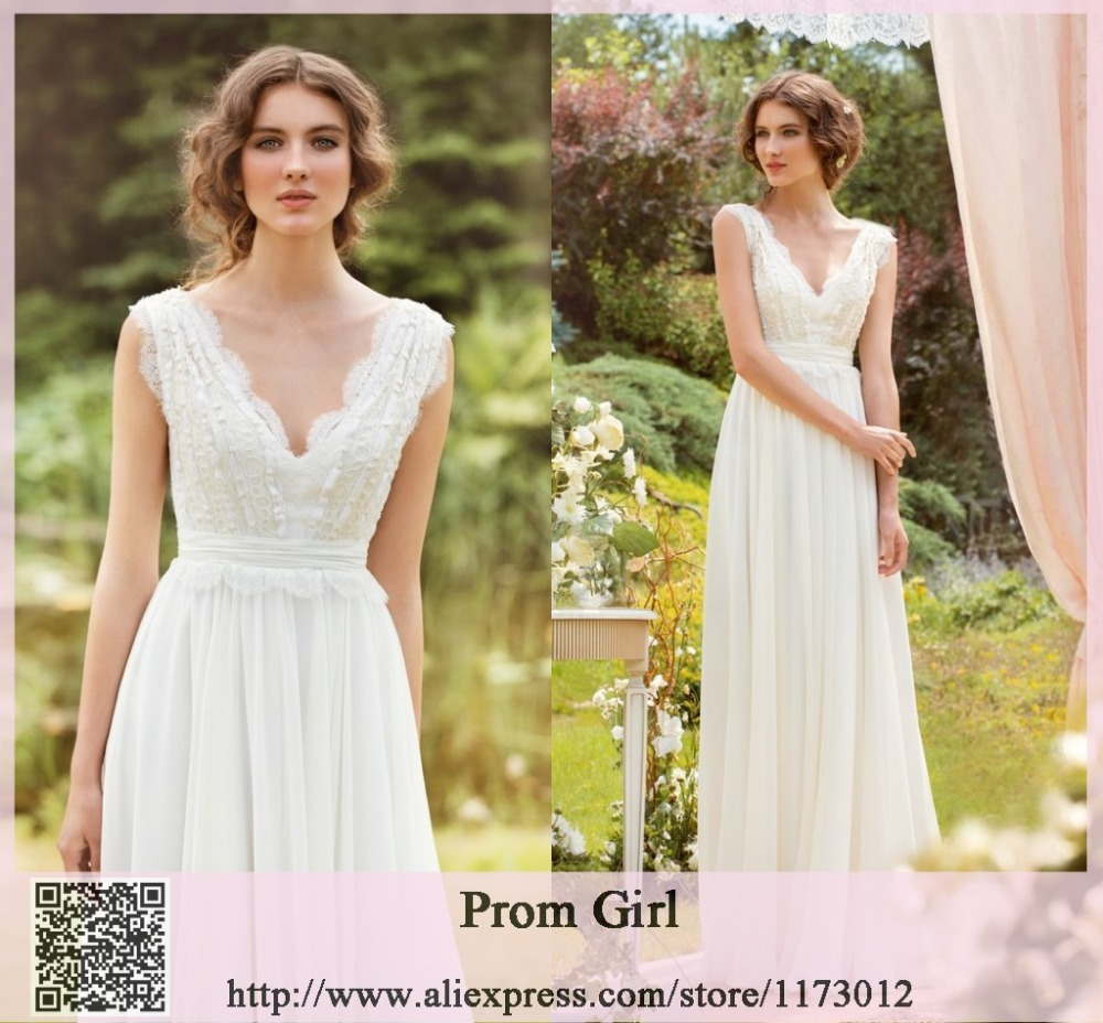 A Line Wedding Dresses without Train