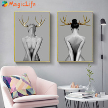 Sexy Lady Women Wall Art Canvas Painting Nordic Poster Home S Girl Bedroom Living Room Decor Unframed