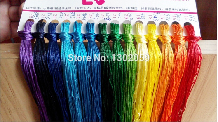 New Embroidery Silk Floss Thread Cross Stitch Silk Yarn Thread Floss 1 Lot 447 Pieces
