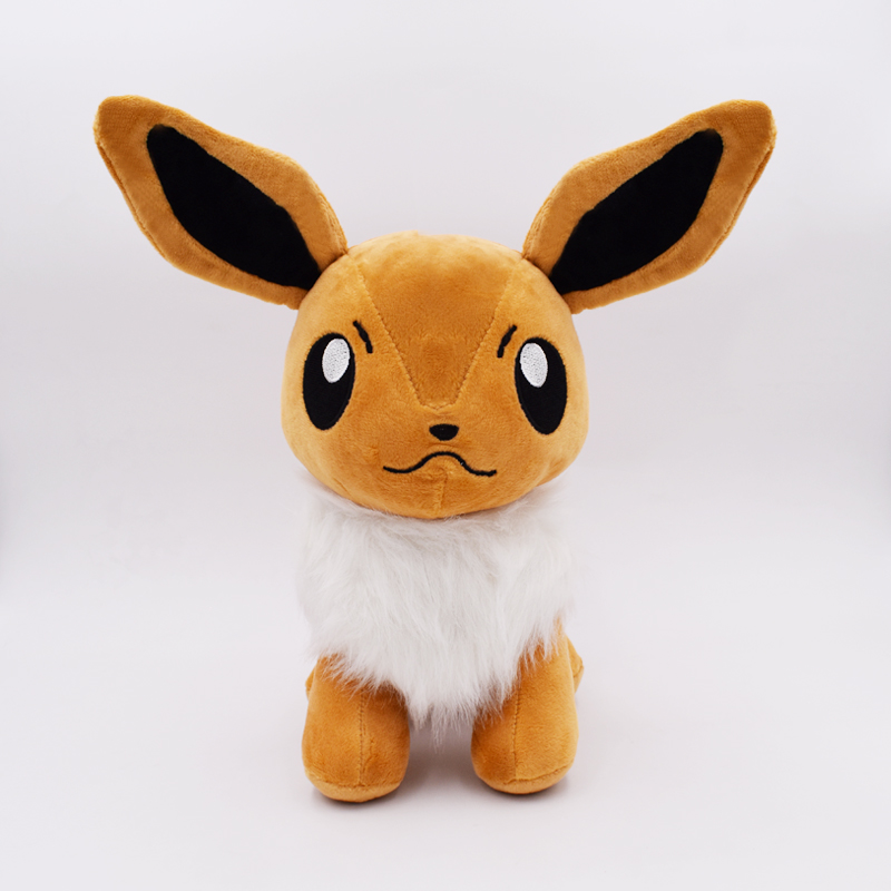 2017 Free Shipping Eevee Plush Toys Doll Big Size 28cm Stand Eevee Stuffed Plush Toys Figure Collectible Toy Gift For Kids