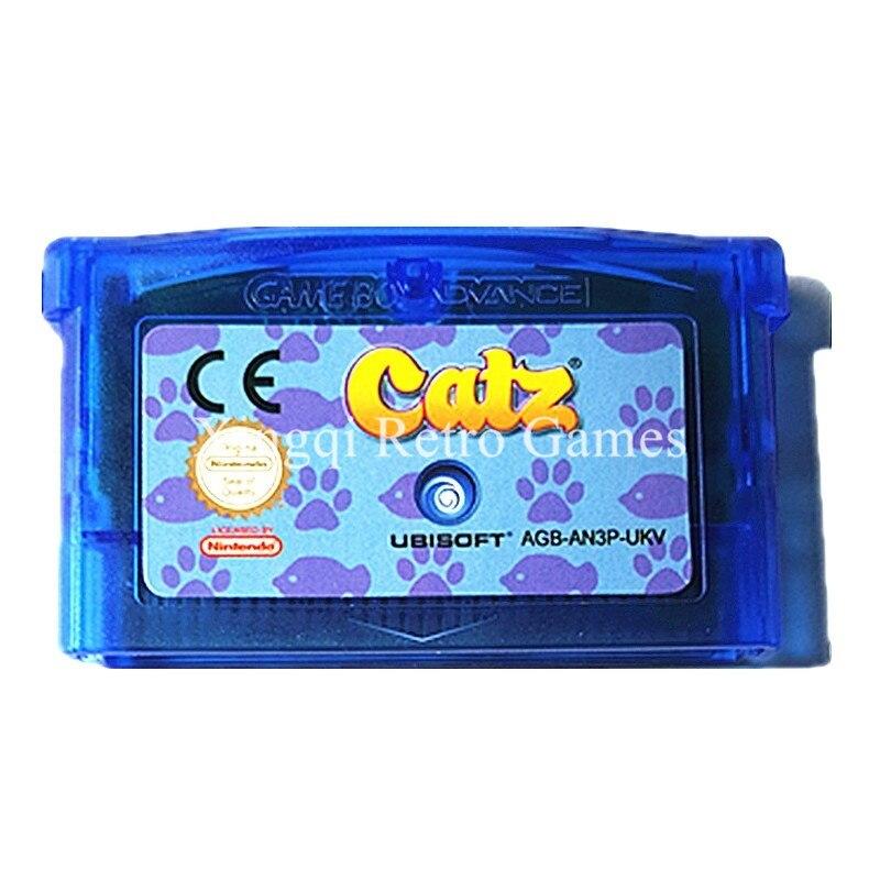Nintendo GBA Game Catz Video Game Cartridge Console Card ENG/FRA/DEU/ITA Language