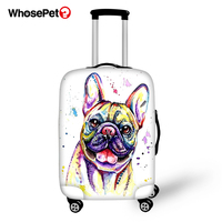 WHOSEPET Luggage Protector Cover Little Bulldogs Pattern Waterproof Suitcase Cover Fashion Design Dustproof Travel Luggage Cover