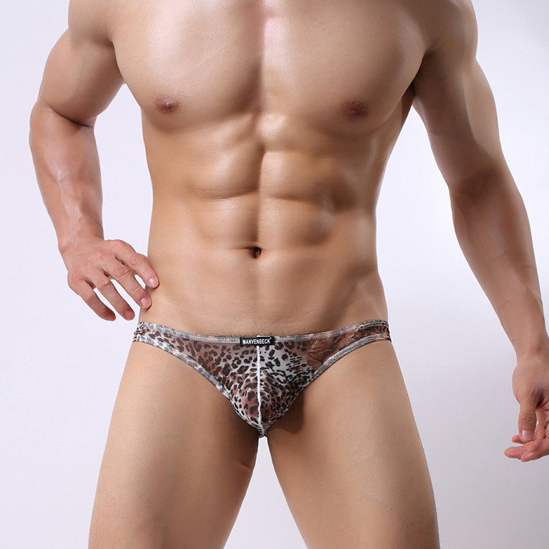 Men's  Underwear Men's Sexy Leopard Breathable Sexy Underwear Comfortable Men's Underwear Panties Shorts Cueca Men's Underwear