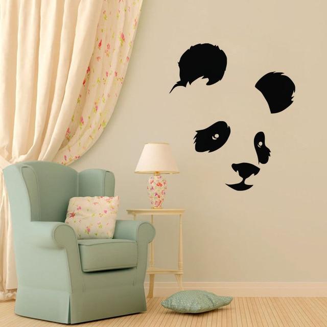 tête d'animal mur autocollants panda adhésifs décoratifs pour la ... - Decoration Stickers Muraux Adhesif