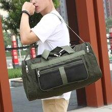 Модная дорожная сумка, Холщовая Сумка для путешествий, Мужская Уличная сумка, сумка для багажа, одноцветная Водонепроницаемая Сетчатая Сумка для выходных, мужские спортивные сумки