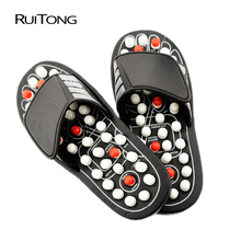 Foot Massage Slippers Acupressure Therapy Massager Shoes For Legs Acupoint Activating Reflexology Foot Health Massager Tools