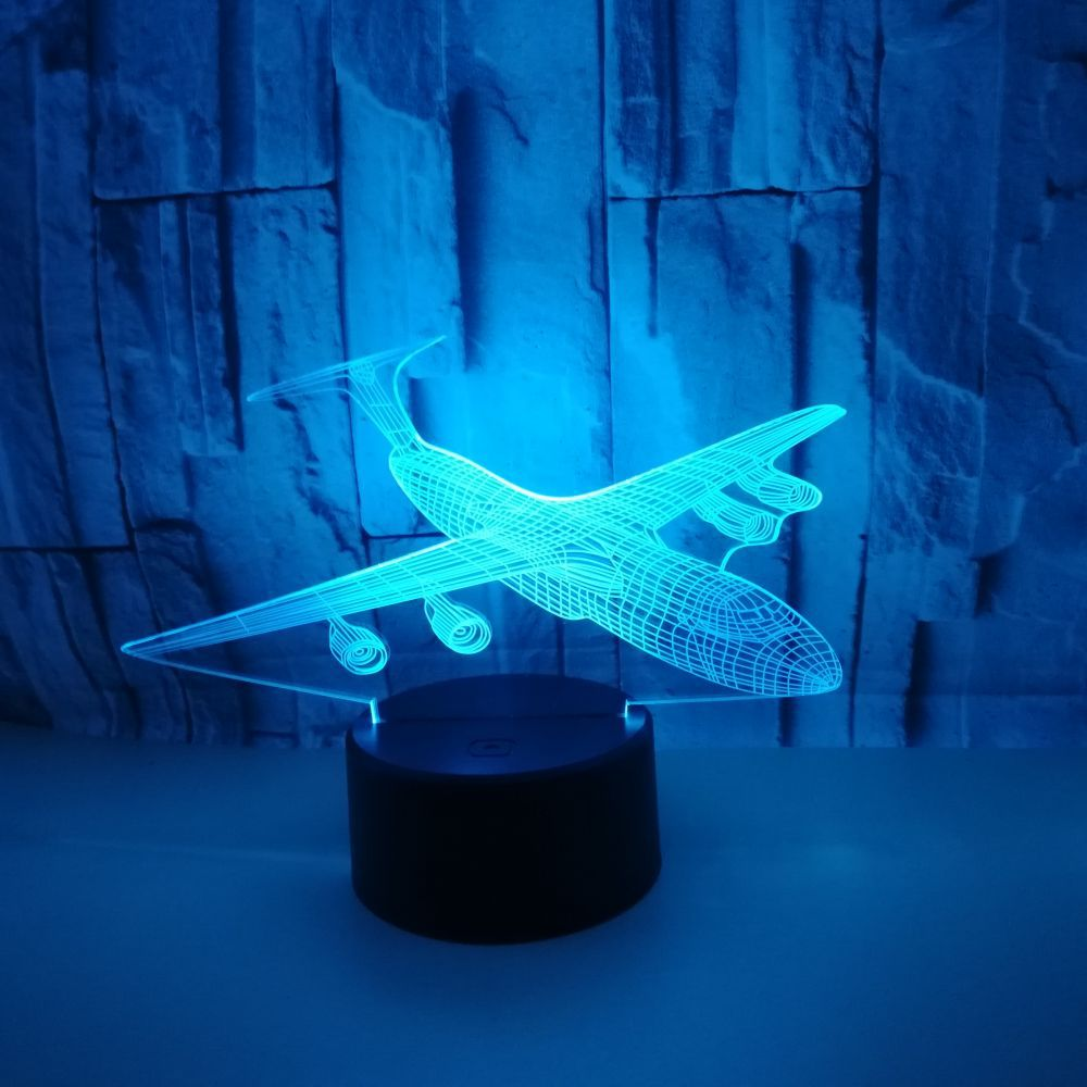 Gift Colourful Light Table US11 Creative Lamps Nightlight Touch Led Control 89 Living Seven Aircraft 3d 42OFF LED Visual For Lamp Room in Desk QdECoBreWx