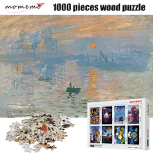 MOMEMO Impression Sunrise 1000 Pieces Wooden Puzzle Assembling Puzzles Game Entertainment Toys for Adult Kids