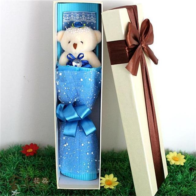 HOT Practical Lovely Teddy Bears Cartoon Bouquet Super Quality Stuffed Animal Doll Toy Teacher's day and Christmas day gifts
