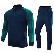 Зимние мужские футболки для футбола, набор survete, мужские футболки для футбола, спортивные комплекты Futbol, трикотажные штаны, комплект, спортивный футбольный тренировочный костюм