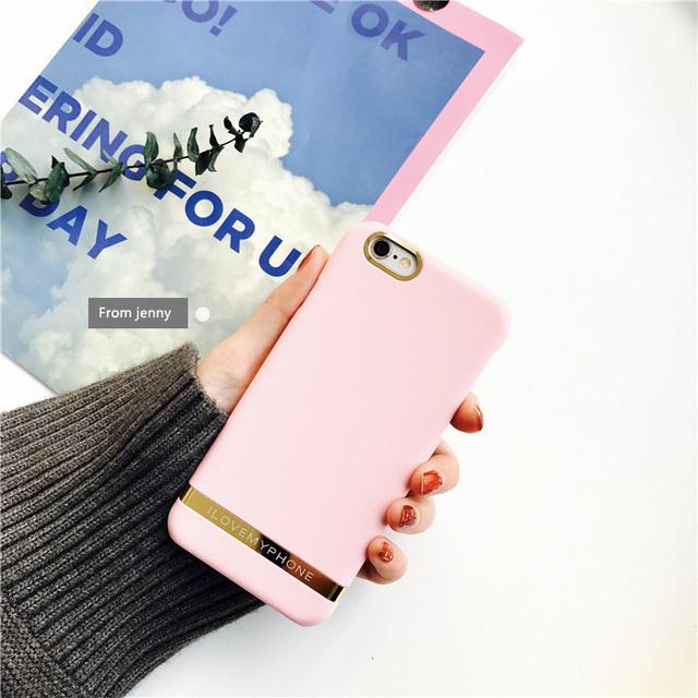 Coréia candy case phnom penh rosa case para iphone 7/7 plus para iphone 6/6s plus personalidade scrub case shell duro escudo do telefone