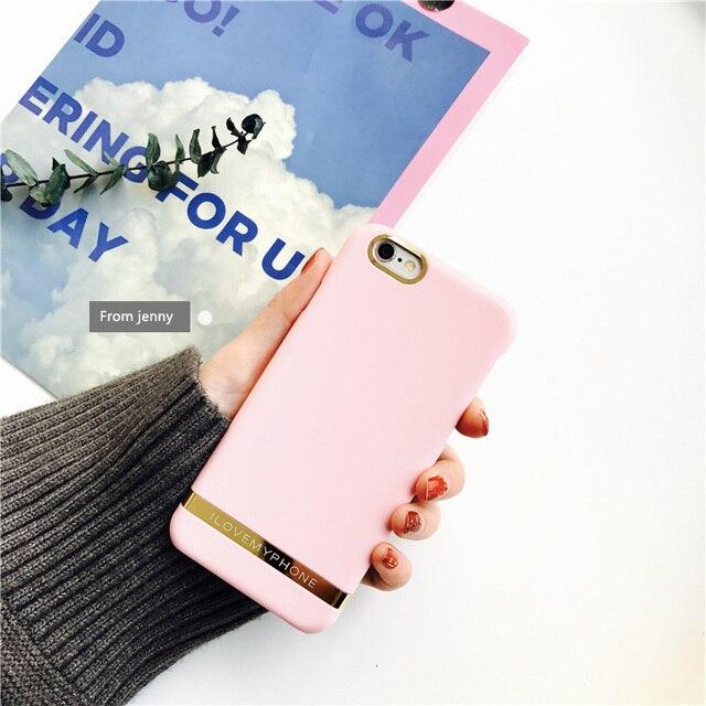 Coreia do caso doces Phnom Penh rosa caso Para o iphone 7/7 plus para o iphone 6/6 s Mais personalidade matagal casca dura caso de telefone shell