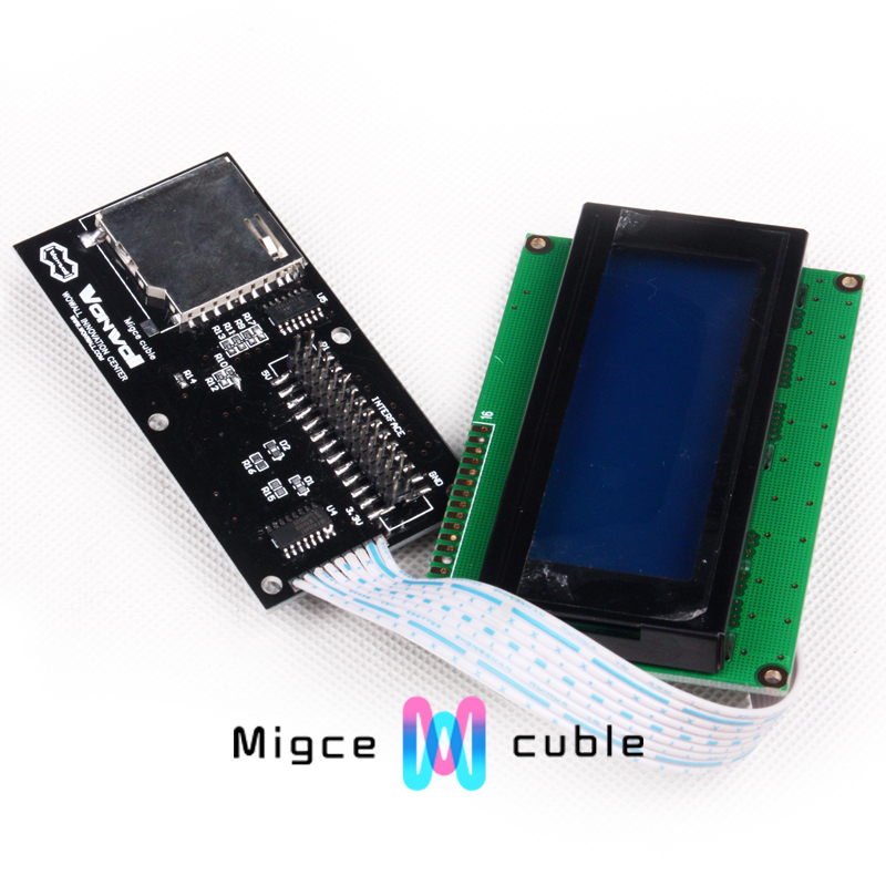 3 D printer accessory makerb/reprap LCD module liquid crystal module top quality free shipping