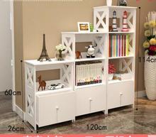 Книжный шкаф. простые полки. детей младшего школьного возраста свободное сочетание книжный шкаф