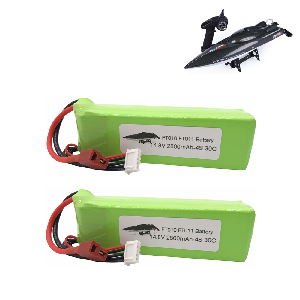 2pcs <font><b>2800mah</b></font> 14.8V BATTERY RC <font><b>4s</b></font> <font><b>Lipo</b></font> Battery 14.8V 30C 803496-<font><b>4s</b></font> for FT010 FT011 RC boat RC Helicopter Airplanes Car Quadcopter image