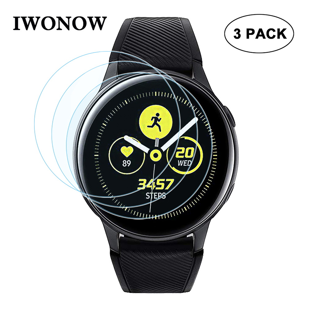 IWONOW 9H Hardness Tempered Glass For Samsung Galaxy Watch Active 40mm (SM-R500) Watch Band Screen Protector HD Protective Film