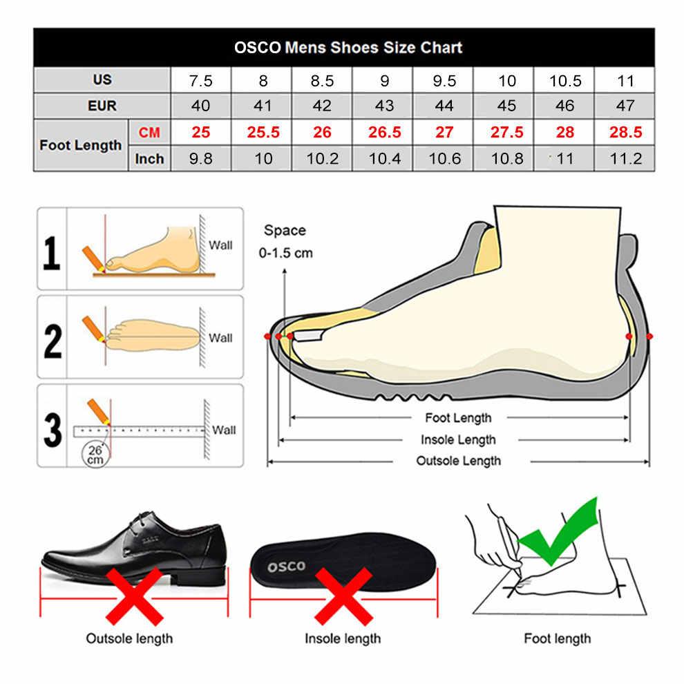 Osco Genuino Stivali da Uomo in Pelle di Autunno di Inverno Della Caviglia Stivali Moda Scarpe Lace Up Scarpe di Cuoio Uomini D'affari Casual di Alta Top Uomini scarpe