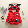 Niños Chaquetas de Invierno 2016 Encapuchados de La Moda de los Bebés de Algodón Acolchado Abrigos Caliente Gruesa Ropa de Abrigo Niños Ropa de bebé Ropa Infantil